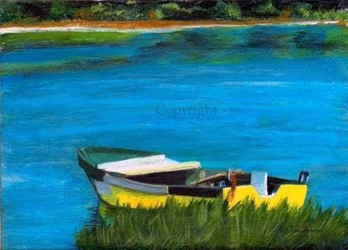 """""""Lobster Boat"""" original fine art by Yvette Gaudreau"""