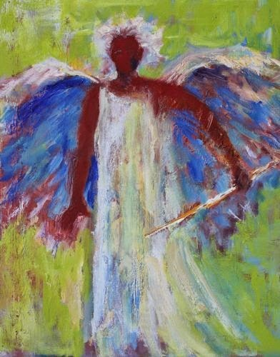 """Gabriel, Contemporary Figure Paintings by Arizona Artist Amy Whitehouse"" original fine art by Amy Whitehouse"