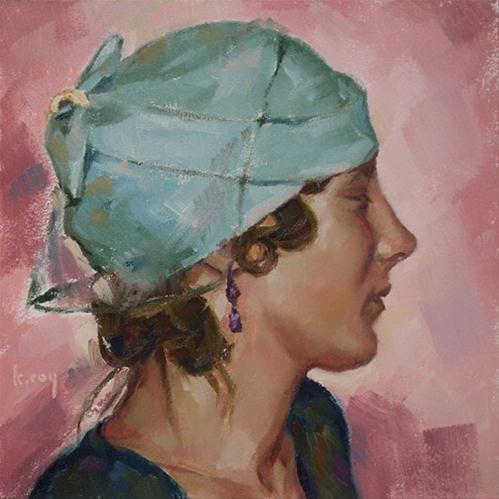 """""""Vintage Mugshot #3"""" original fine art by Kathleen Coy"""