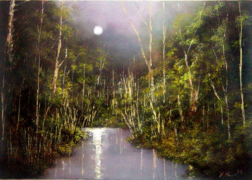 """Secluded River"" original fine art by Bob Kimball"