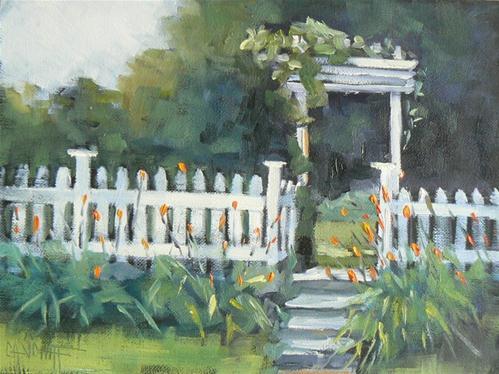 """""""A Walk in the Garden"""" original fine art by Carol Schiff"""