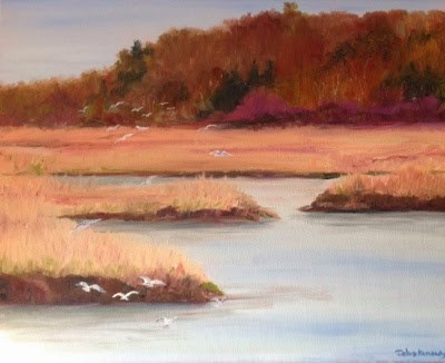 """Cape Marsh 3"" original fine art by Debra Kennedy"