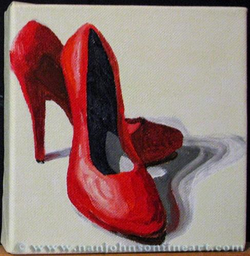 """Red Heels"" original fine art by Nan Johnson"