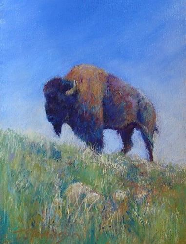"""Buffalo Mystery"" original fine art by Trish Stevenson"