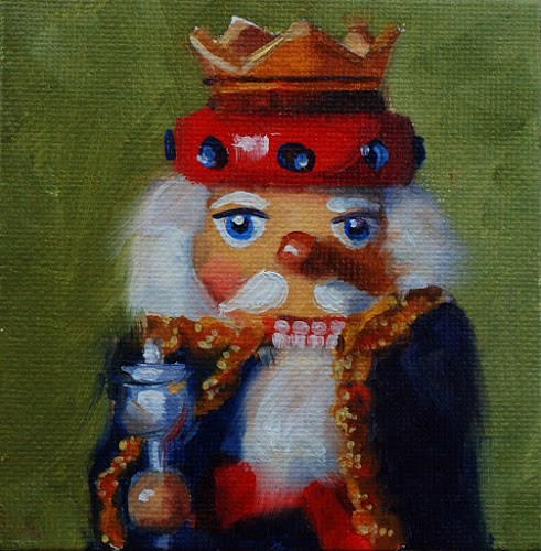 """No. 528 Mini Nutcrackers"" original fine art by Susan McManamen"