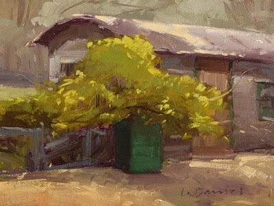 """Sunlit Vine"" original fine art by Laurel Daniel"