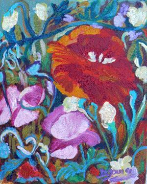 """Twilight Garden"" original fine art by Darlene Young"