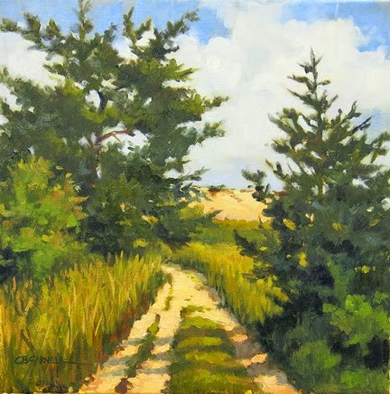 """""""SOLD 'Dunes at Barnstable II , Cape Cod'An Original Oil Painting by Claire Beadon Carnell"""" original fine art by Claire Beadon Carnell"""
