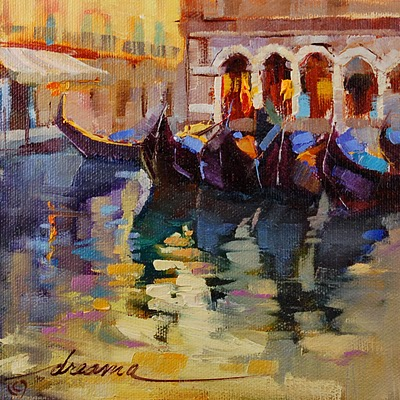 """Venice Reflected"" original fine art by Dreama Tolle Perry"