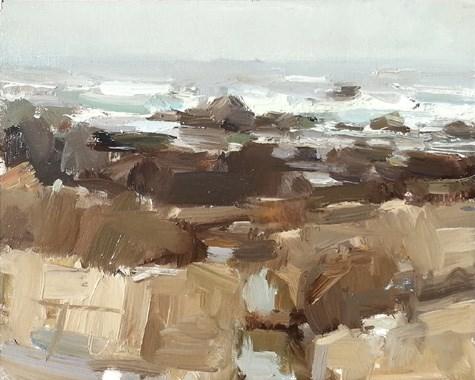 """Painting in California 3 Poetry in Rocks"" original fine art by Roos Schuring"