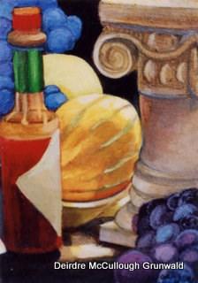 """""""Bottle with Pillar"""" original fine art by Deirdre McCullough Grunwald"""
