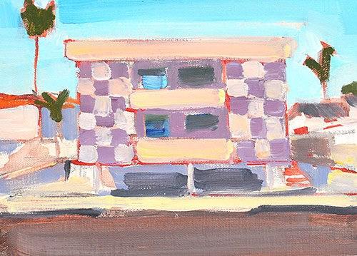 """Dingbat Building, Los Angeles"" original fine art by Kevin Inman"