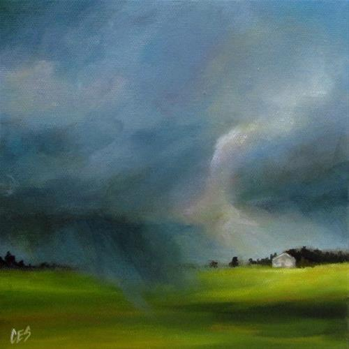 """The Sun Chasing the Rain"" original fine art by ~ces~ Christine E. S. Code"