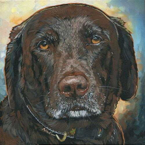 """Millie"" original fine art by Nadi Spencer"