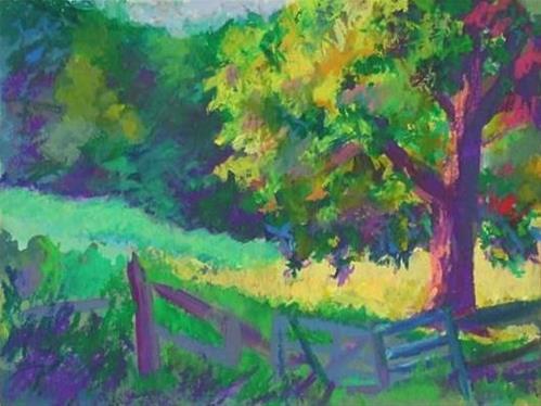"""Tree in the Field"" original fine art by Meredith Adler"
