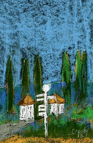 """""""Familiar In California"""" original fine art by Donna Crosby"""