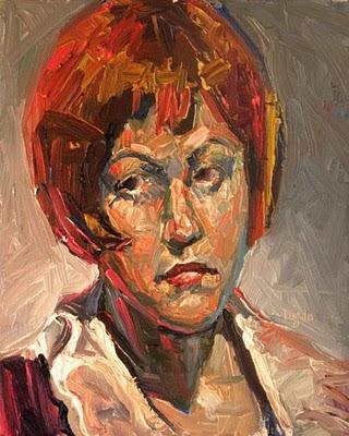 """Red Toni"" original fine art by Raymond Logan"