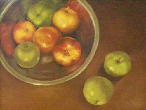 """Bowl of Apples"" original fine art by Amy VanGaasbeck"