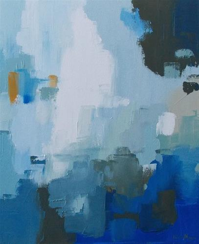 """Blue Falls"" original fine art by Pamela Munger"
