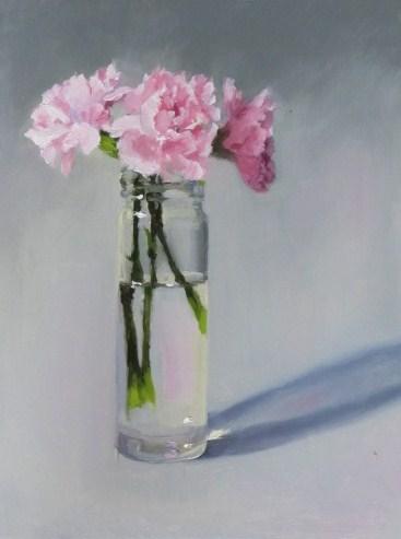 """Pinks"" original fine art by Liz Balkwill"