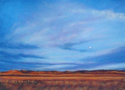 """Morning of the Moon"" original fine art by Carol Zirkle"