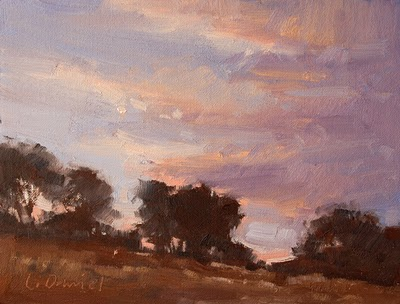 """Hillside Wonder (study)"" original fine art by Laurel Daniel"