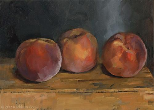 """Peachy"" original fine art by Kathleen Coy"