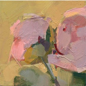 """#1143 Elusive Peonies"" original fine art by Lisa Daria"