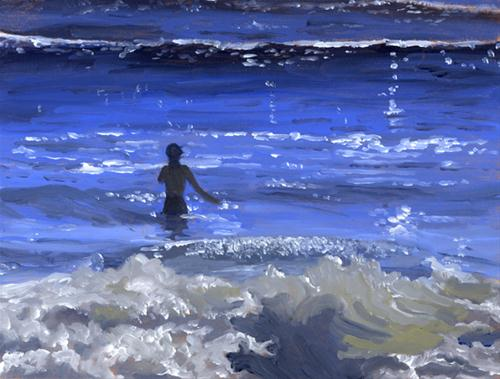 """MORNING SWIM"" original fine art by Nancy Herman"
