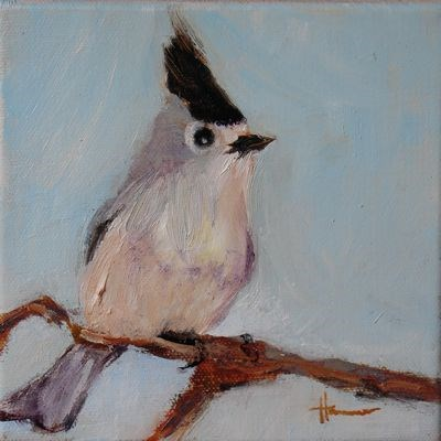 """Titmouse"" original fine art by Susan Hammer"