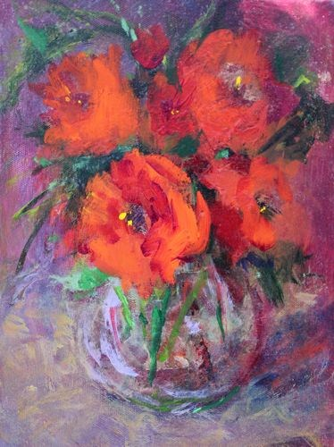 """Valentine's Bouquet Acrylic Painting on Canvas by Arizona Artist Amy Whitehouse"" original fine art by Amy Whitehouse"