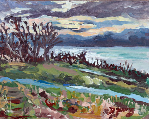 """Holland Point Winter Morning"" original fine art by Darlene Young"