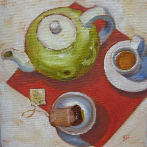 """Demitasse tea"" original fine art by Sandy Haynes"