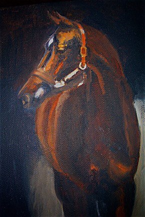 """Big Guy"" original fine art by Gloria  Nehf"