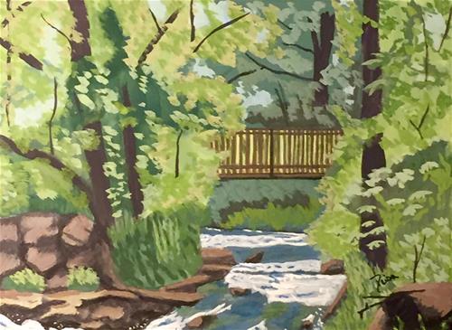 """The Bridge"" original fine art by Reisa Peters"