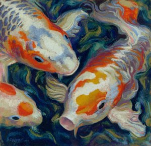 """Koi #10"" original fine art by Rita Kirkman"