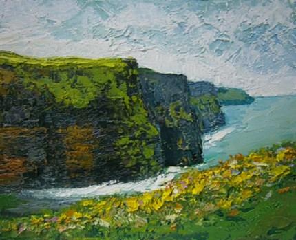 """THE CLIFFS OF MOHER"" original fine art by Marie O' Higgins"