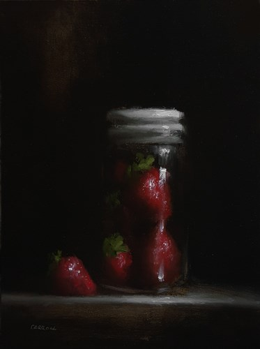 """Strawberry Jar"" original fine art by Neil Carroll"
