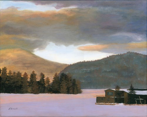 """Adirondack Morning"" original fine art by Lynne Reichhart"