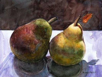 """""""Watercolor: Swaying to the Music"""" original fine art by Belinda Del Pesco"""