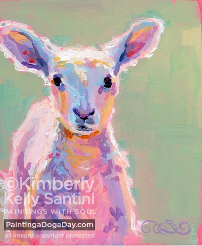 """Baby Baa"" original fine art by Kimberly Santini"