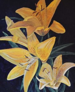"""Tiger Lilies"" original fine art by Robert Frankis"