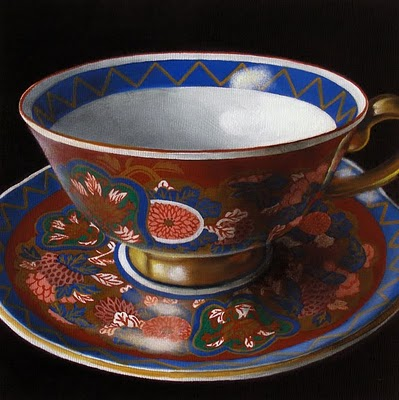 """Teacup Study:  My Mother's Collection IV"" original fine art by Jelaine Faunce"