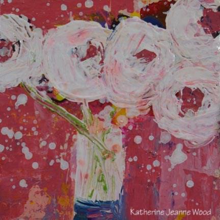 """Flower Series No 69"" original fine art by Katie Jeanne Wood"