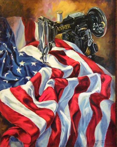 """The Last Seam"" original fine art by Donna Whatcott Parsons"