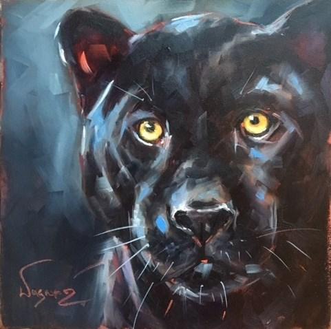 """Black Beauty"" original fine art by Olga Wagner"