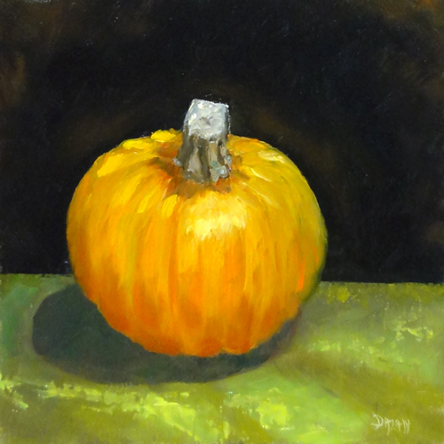 """Baby Pumpkin, Happy Halloween!"" original fine art by Dalan Wells"