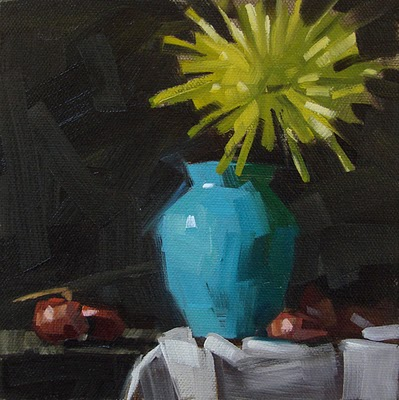 """Blue Vase"" original fine art by Carol Marine"
