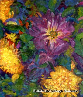 """Dahlias"" original fine art by Deirdre McCullough Grunwald"