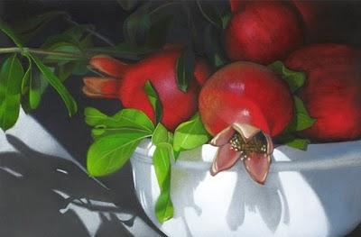 """""Pomegranates""  5.25 x 8"" original fine art by M Collier"